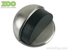 Zoo ZAS06 Series Oval Floor Mounted Stainless Steel Door Stop