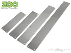 Zoo ZAS32R Series Stainless Finger Plates Radius Corners - Plain