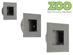 Zoo ZAS40 Series Stainless Square Flush Pulls