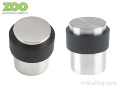 Zoo ZAS85 Series Round Flat Top Floor Mounted Stainless Steel Door Stop