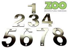 Zoo ZSN**A Series Stainless Numerals 76mm High