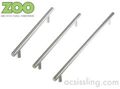 Zoo ZCS2G Series GUARDSMAN T-Bar Pull Handles 30mm Diameter Grade 201 Stainless