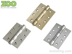 Stainless Steel Ball Bearing Butt Hinges Fire Rated Grade 13 102x76x3mm