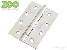 Grade 201 Stainless Steel Washered Hinges 75mm / 3""